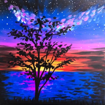 Canvas Painting Class on 07/20 at Muse Paintbar Fairfax (Mosaic)
