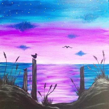 Canvas Painting Class on 03/11 at Muse Paintbar Annapolis