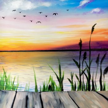 Canvas Painting Class on 08/07 at Muse Paintbar Portland