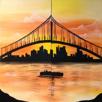 Couple's Paint Night on 04/10 at Muse Paintbar Gaithersburg