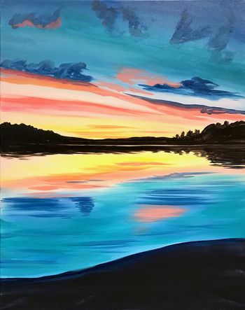 Canvas Painting Class on 11/23 at Muse Paintbar Fairfax (Mosaic)