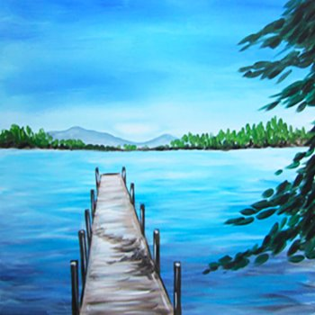 Canvas Painting Class on 04/06 at Muse Paintbar Lynnfield