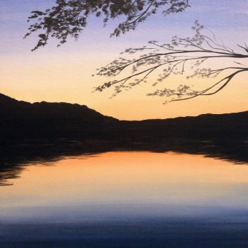 Canvas Painting Class on 08/18 at Muse Paintbar Gaithersburg