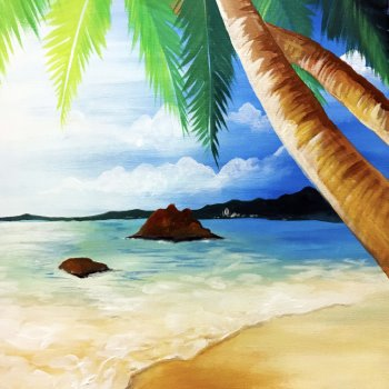 Canvas Painting Class on 06/09 at Muse Paintbar Lynnfield