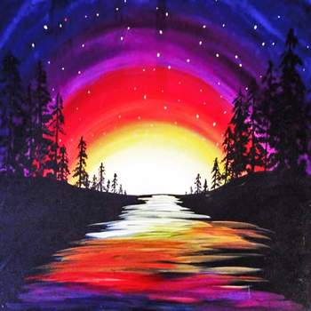 Canvas Painting Class on 10/24 at Muse Paintbar White Plains