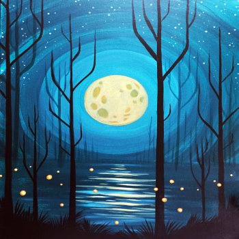 Canvas Painting Class on 10/01 at Muse Paintbar Fairfax (Mosaic)