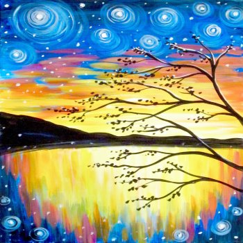 Canvas Painting Class on 10/18 at Muse Paintbar Patriot Place