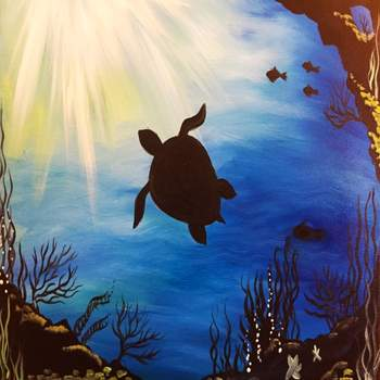 Canvas Painting Class on 07/22 at Muse Paintbar Patriot Place