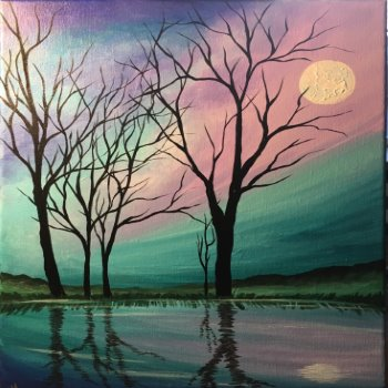 Canvas Painting Class on 04/09 at Muse Paintbar West Hartford