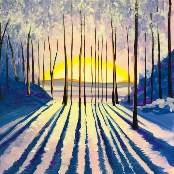 Canvas Painting Class on 01/09 at Muse Paintbar Patriot Place