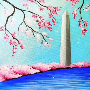 Canvas Painting Class on 04/07 at Muse Paintbar Fairfax (Mosaic)
