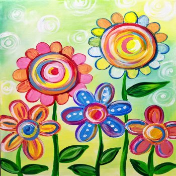 Kids Painting Class on 03/30 at Muse Paintbar Fairfax (Mosaic)