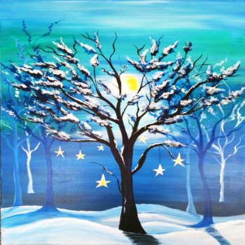 Canvas Painting Class on 12/10 at Muse Paintbar Norwalk