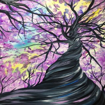 Canvas Painting Class on 04/18 at Muse Paintbar Fairfax (Mosaic)
