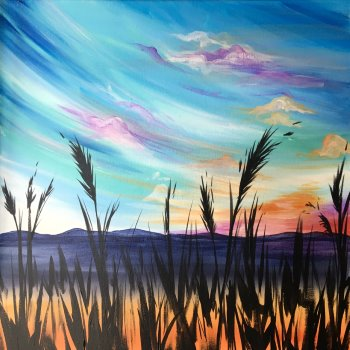Canvas Painting Class on 08/28 at Muse Paintbar Gaithersburg