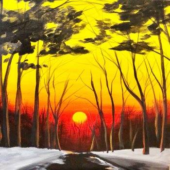 Canvas Painting Class on 01/14 at Muse Paintbar Patriot Place