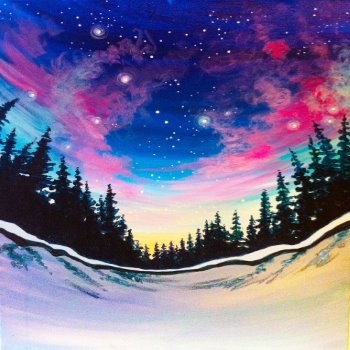 Canvas Painting Class on 12/26 at Muse Paintbar Ridge Hill