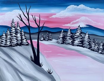 Canvas Painting Class on 12/11 at Muse Paintbar Ridge Hill