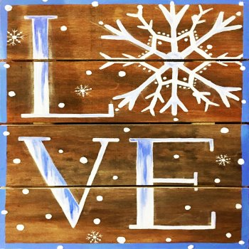 Wooden Sign Painting on 01/22 at Muse Paintbar Woodbridge
