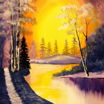 Canvas Painting Class on 01/28 at Muse Paintbar Woodbridge
