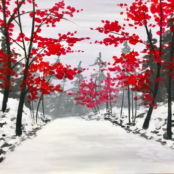 Canvas Painting Class on 12/30 at Muse Paintbar West Hartford
