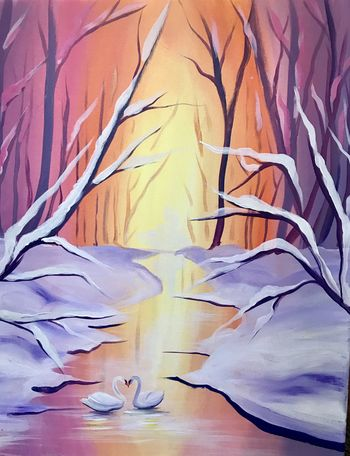 Canvas Painting Class on 02/23 at Muse Paintbar Port Jefferson