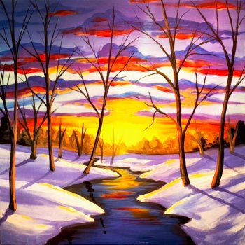 Canvas Painting Class on 12/11 at Muse Paintbar NYC - Tribeca