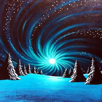 Canvas Painting Class on 12/29 at Muse Paintbar Woodbridge