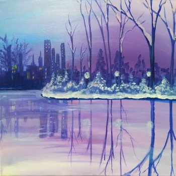 Canvas Painting Class on 01/31 at Muse Paintbar Patriot Place