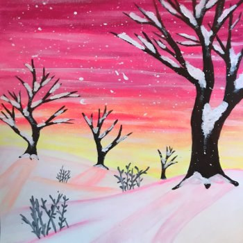Canvas Painting Class on 01/13 at Muse Paintbar Manchester