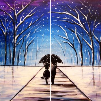 Wintry Embrace - Muse Paintbar