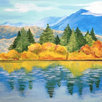 Canvas Painting Class on 10/27 at Muse Paintbar Patriot Place