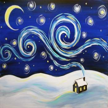 Canvas Painting Class on 12/23 at Muse Paintbar Lynnfield