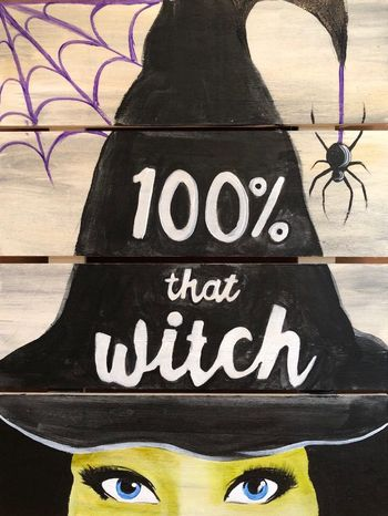 Wooden Sign Painting on 10/26 at Muse Paintbar NYC - Tribeca