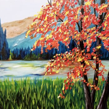 Canvas Painting Class on 09/16 at Muse Paintbar Manchester