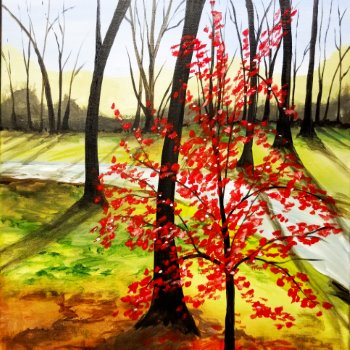 Canvas Painting Class on 10/03 at Muse Paintbar Patriot Place