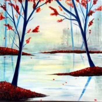 Canvas Painting Class on 10/26 at Muse Paintbar Patriot Place