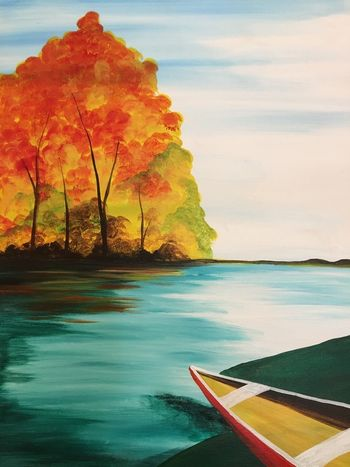 Canvas Painting Class on 11/17 at Muse Paintbar Port Jefferson