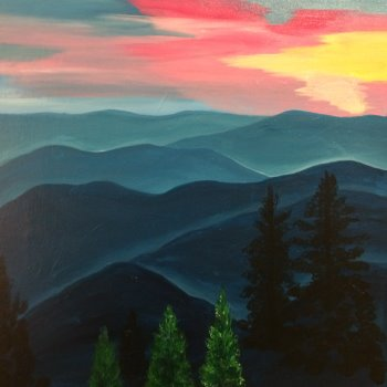 Canvas Painting Class on 10/07 at Muse Paintbar Fairfax (Mosaic)