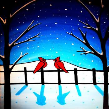 Canvas Painting Class on 12/12 at Muse Paintbar Gaithersburg
