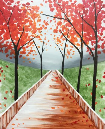Canvas Painting Class on 11/10 at Muse Paintbar Lynnfield