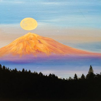 Canvas Painting Class on 08/15 at Muse Paintbar Ridge Hill
