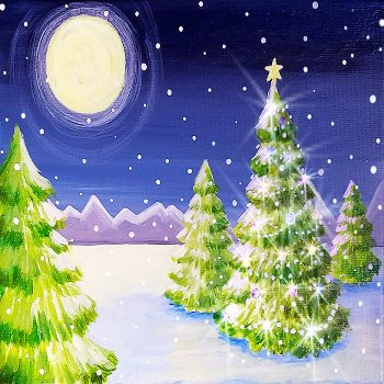 Moonlit Christmas - Muse Paintbar