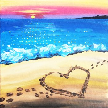 Canvas Painting Class on 08/23 at Muse Paintbar Virginia Beach