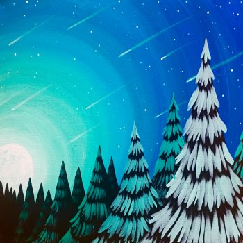 Canvas Painting Class on 01/17 at Muse Paintbar Manchester