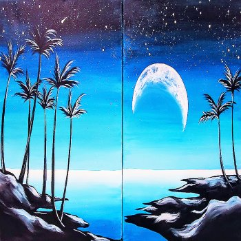 Couple's Paint Night on 08/28 at Muse Paintbar Ridge Hill