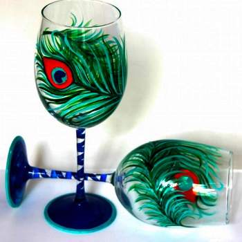 Glassware Painting Event on 08/20 at Muse Paintbar Lynnfield