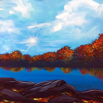 Canvas Painting Class on 11/20 at Muse Paintbar Port Jefferson