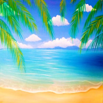 Canvas Painting Class on 08/05 at Muse Paintbar Portland