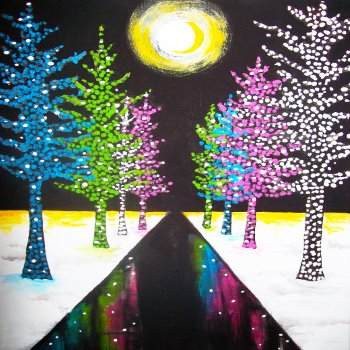 Canvas Painting Class on 12/22 at Muse Paintbar Woodbridge